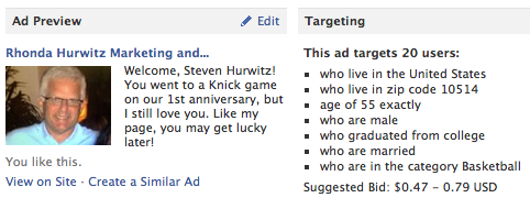 Facebook advertising microtargeting