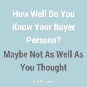 Know Your Buyer Personas